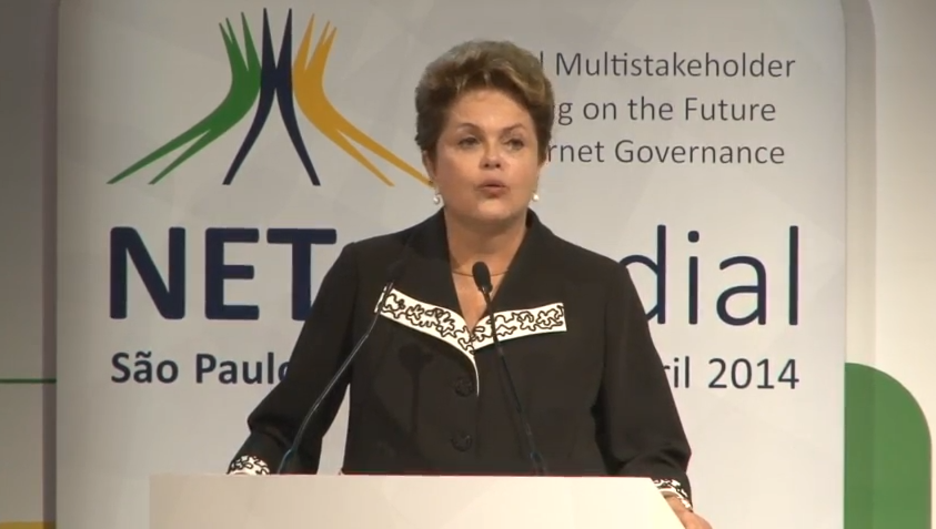 Dilma Rousseff talks about the important pillars of the Marco Civil