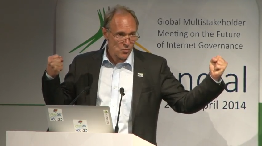 @timberners_lee winning in the hand gestures category so far at #netmundial2014