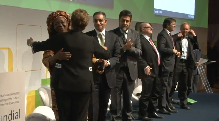 Nnenna and Dilma hug it out. Two amazing women fighting for internet freedom